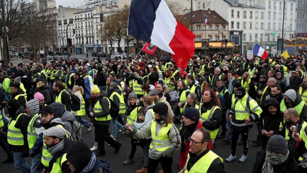 Yellow Vest protestors, France.