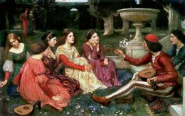 John William Waterhouse's painting A Tale from the Decameron, 1916.
