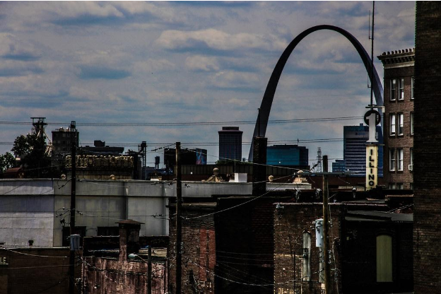 View of the Gateway Arch from East St. Louis.